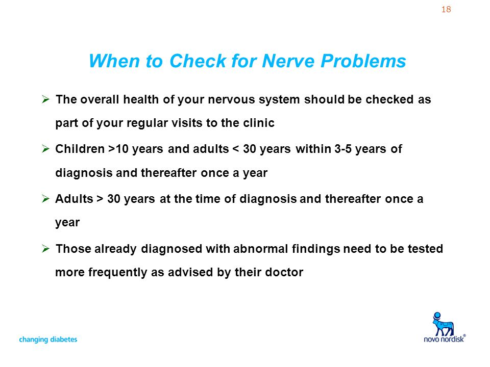 When to Check for Nerve Problems