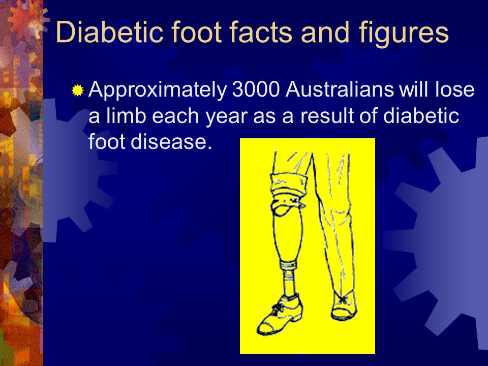 Diabetic foot facts and figures