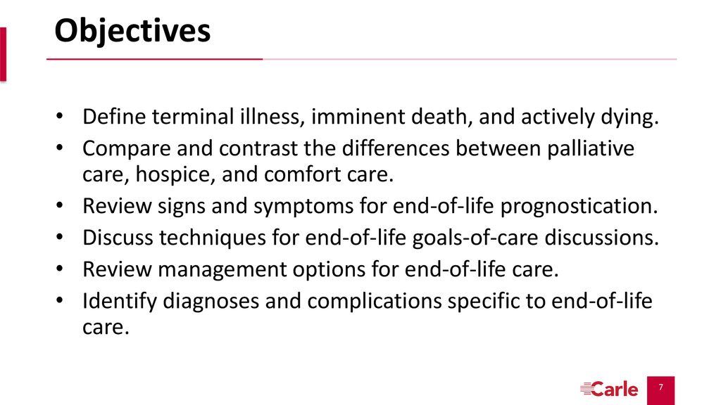 Critical Palliative Care: End-of-Life Care - ppt download