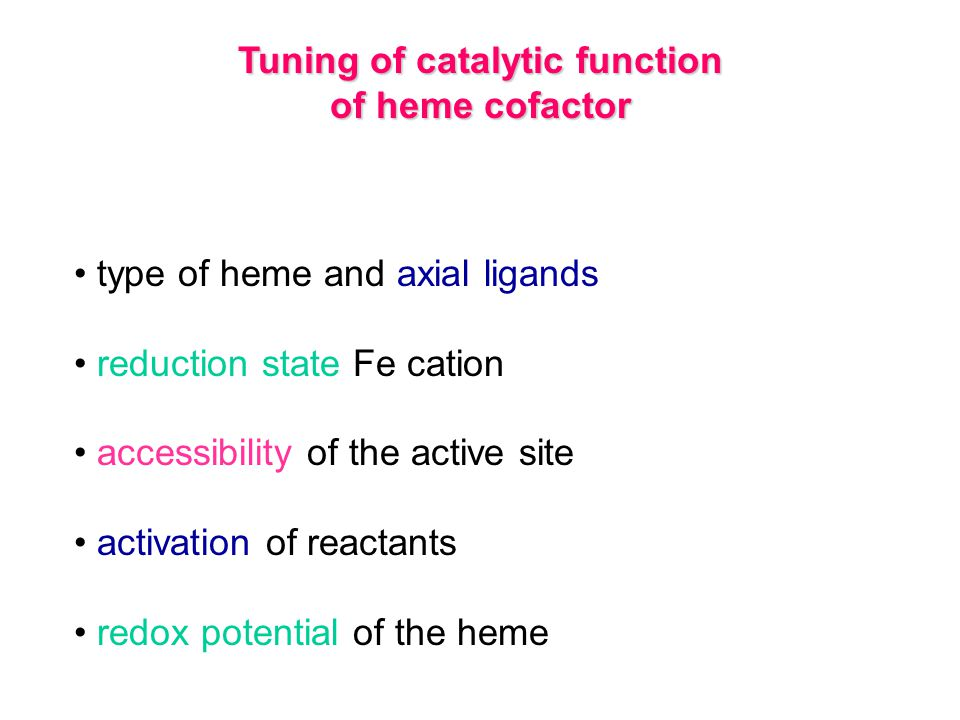 Tuning of catalytic function