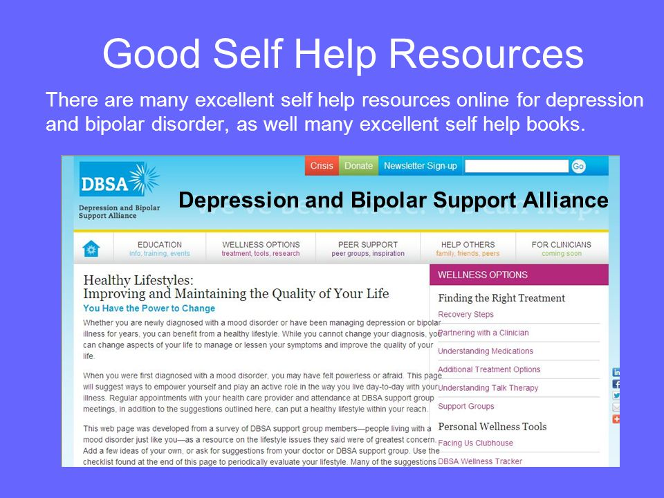 Good Self Help Resources