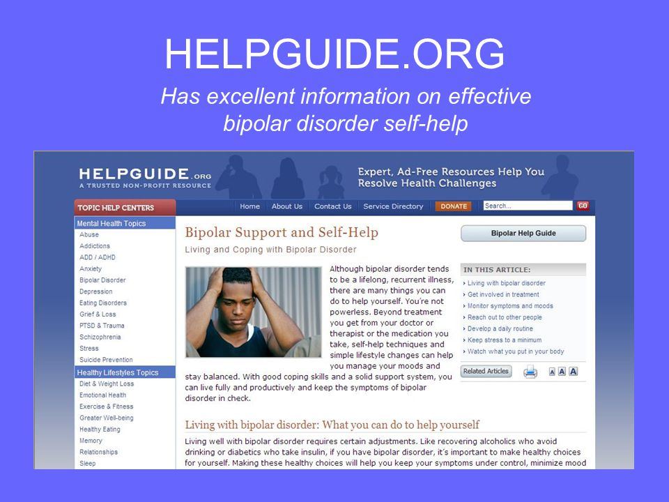 HELPGUIDE.ORG Has excellent information on effective