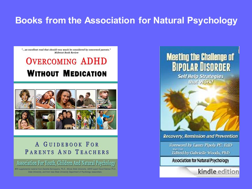Books from the Association for Natural Psychology