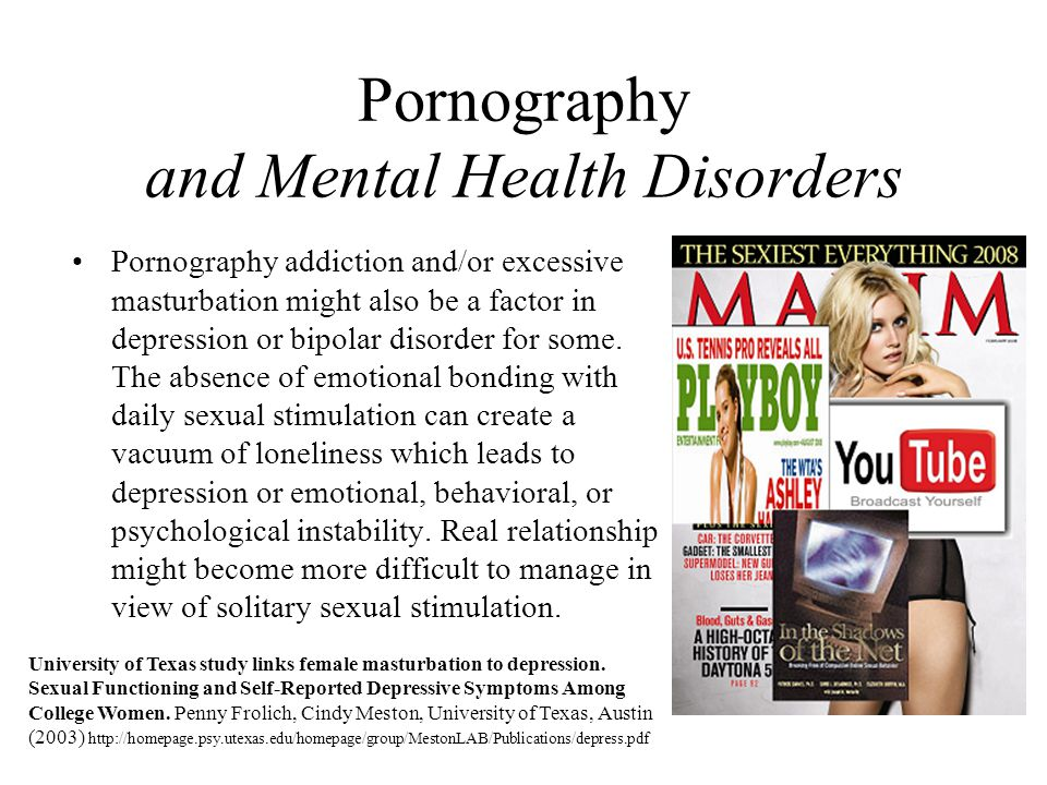 Pornography and Mental Health Disorders