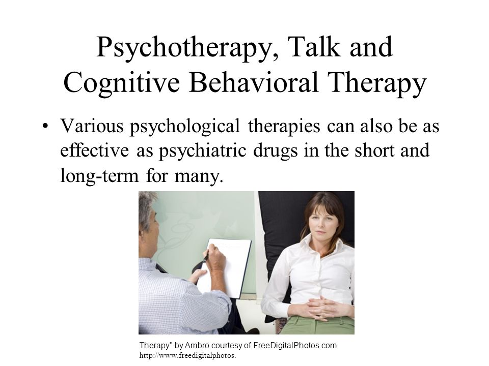 Psychotherapy, Talk and Cognitive Behavioral Therapy
