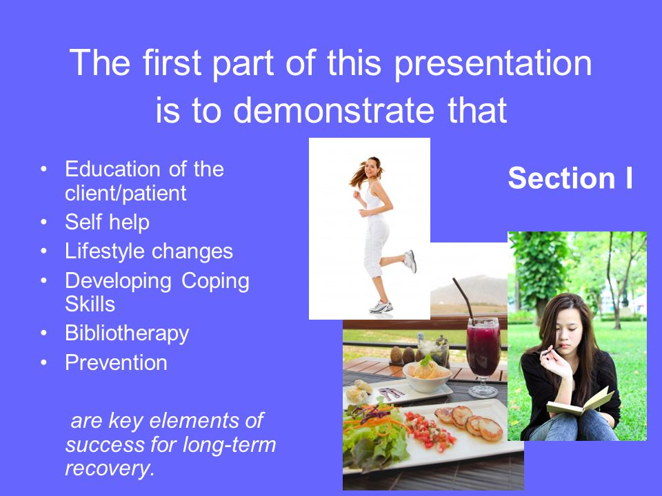The first part of this presentation is to demonstrate that