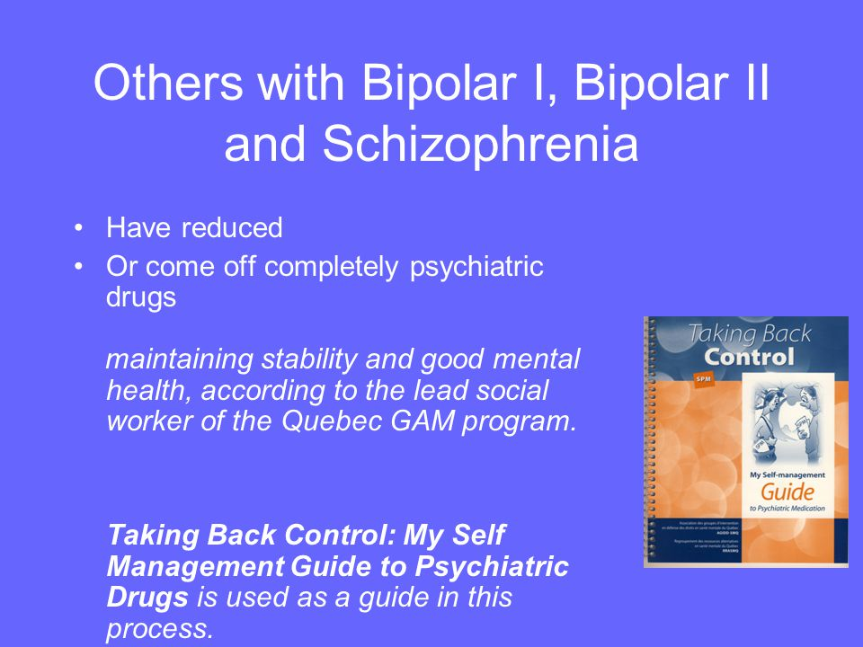 Others with Bipolar I, Bipolar II and Schizophrenia