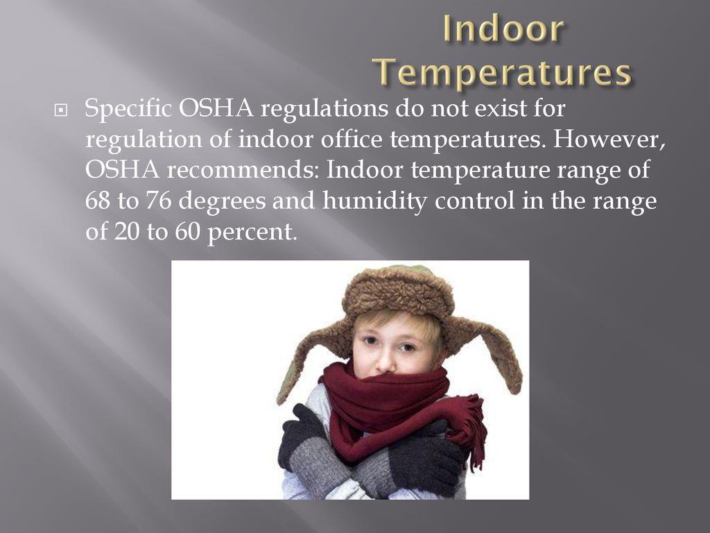 osha indoor temperature regulations