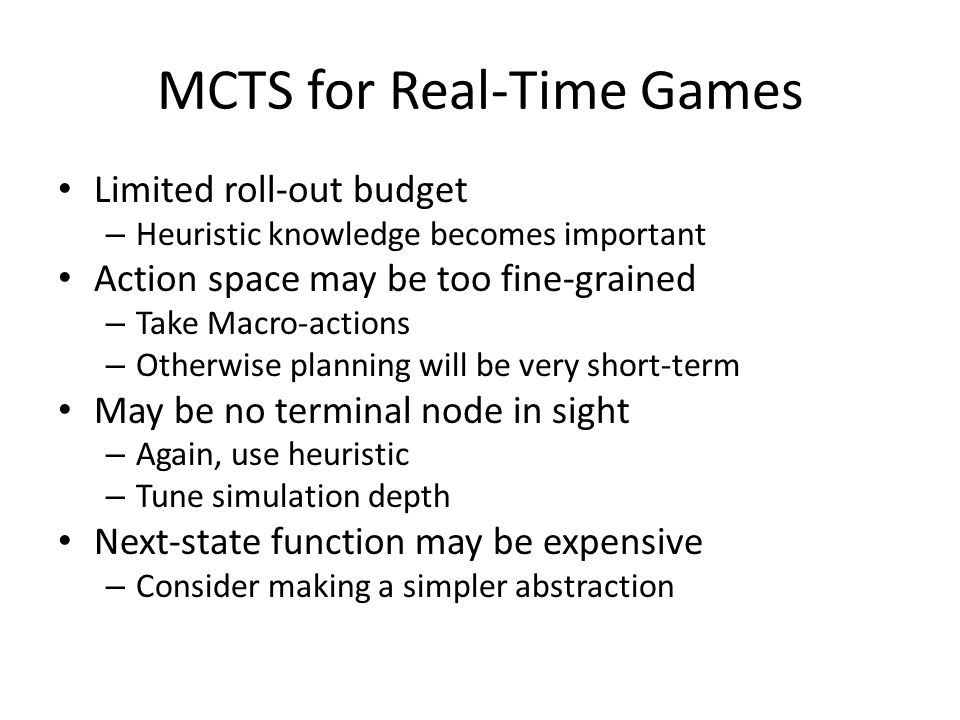 MCTS for Real-Time Games
