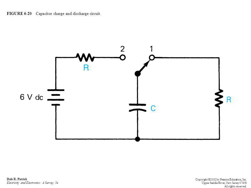 FIGURE 6-20 Capacitor charge and discharge circuit.