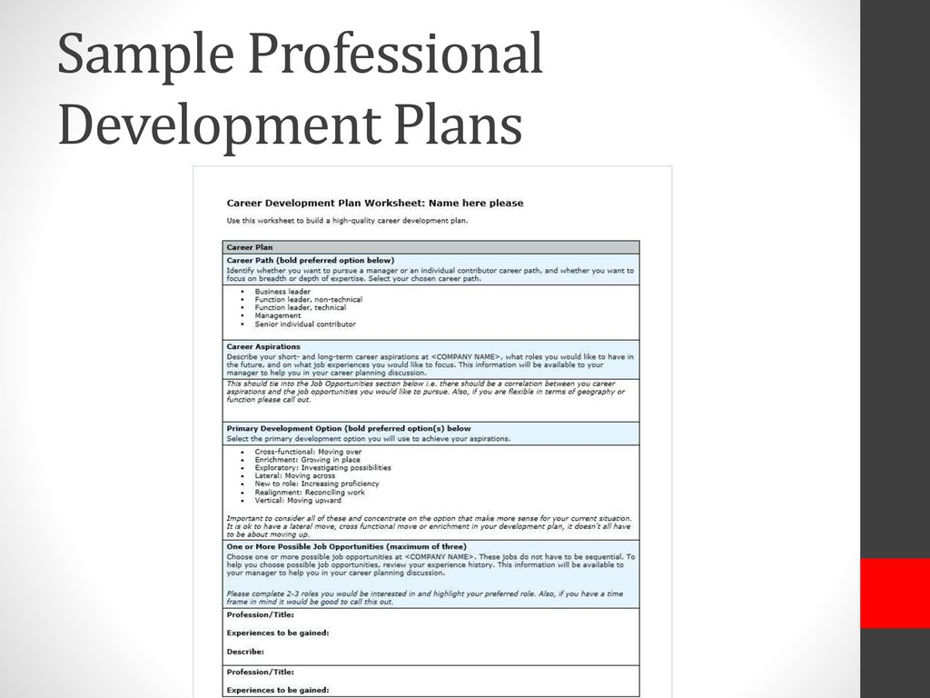 Building Your Professional Development Plan Ppt Download