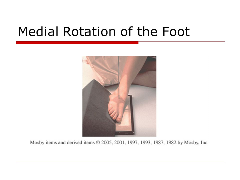 Medial Rotation of the Foot