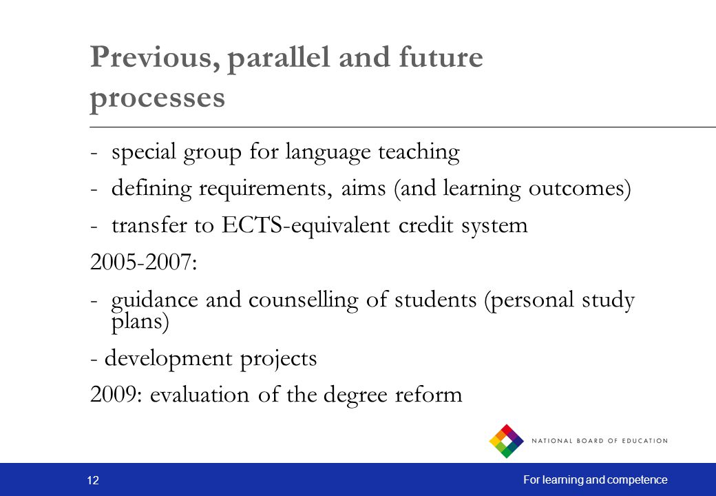 Previous, parallel and future processes
