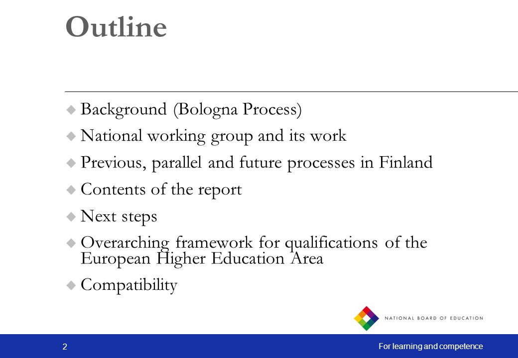 Outline Background (Bologna Process)