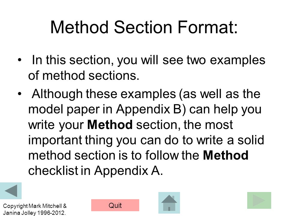 Howto Write a Method