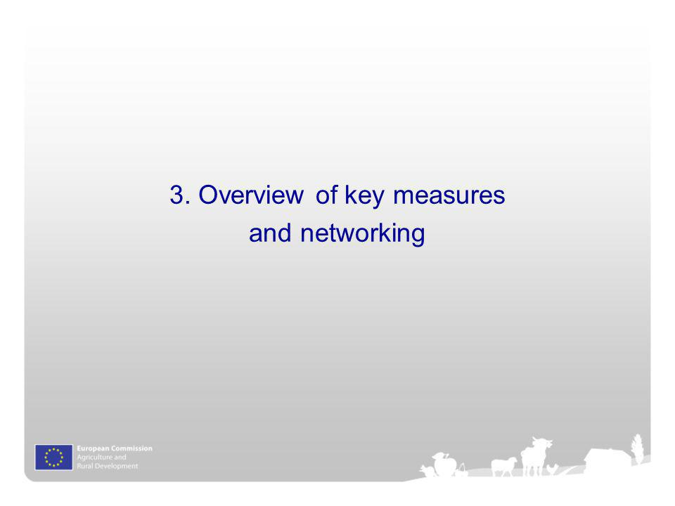 3. Overview of key measures