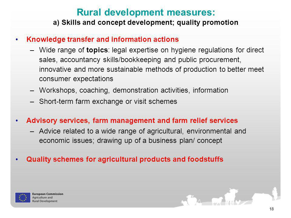 Rural development measures: