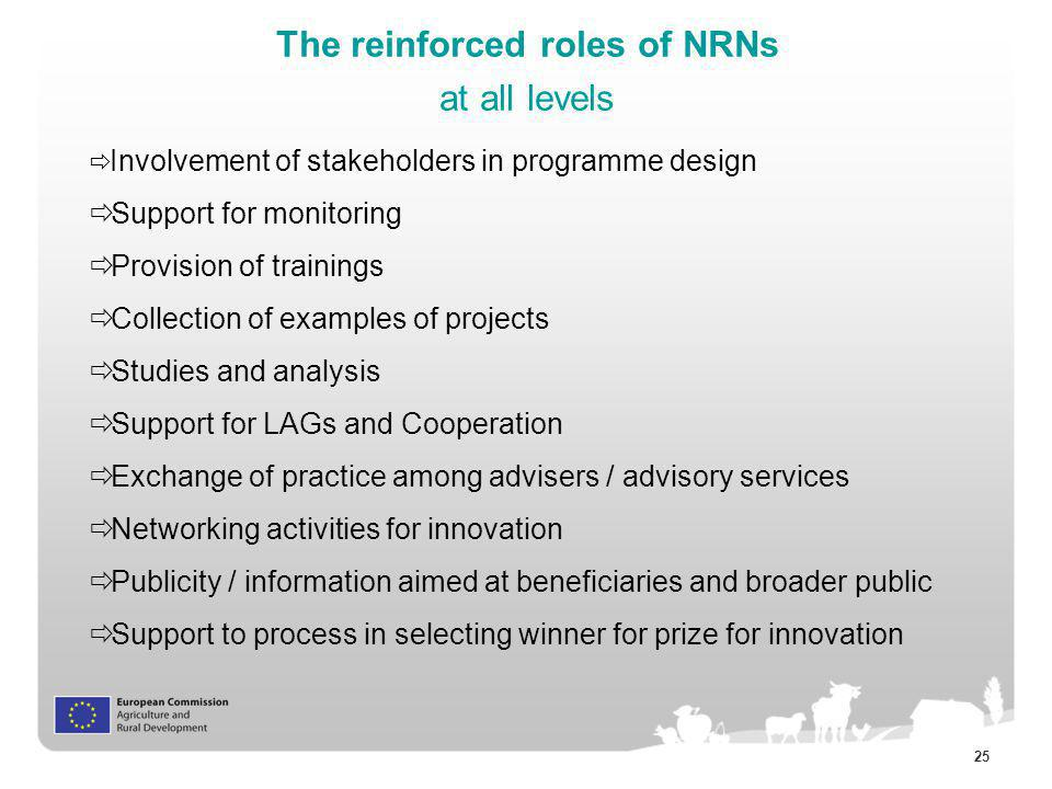 The reinforced roles of NRNs at all levels
