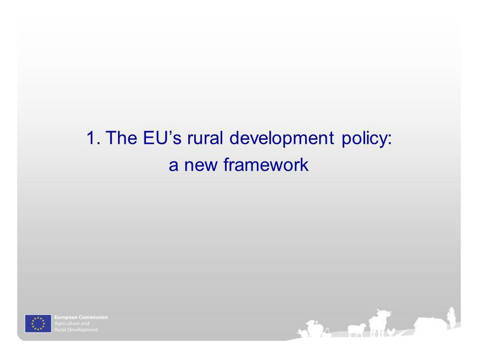 The EU's rural development policy: