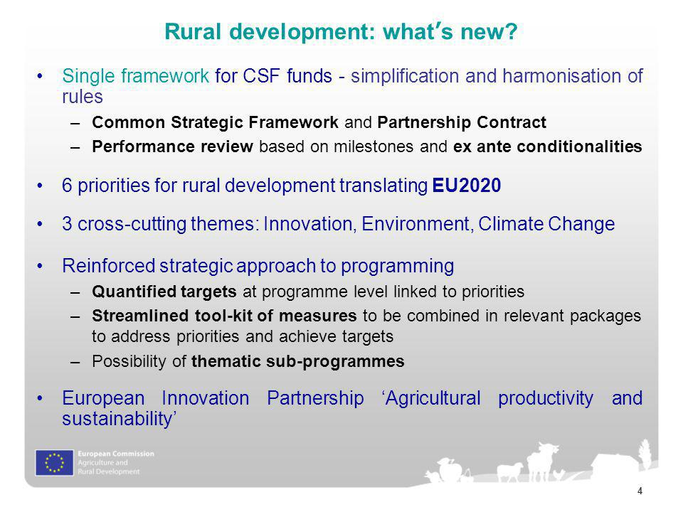 Rural development: what's new