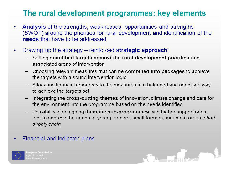The rural development programmes: key elements
