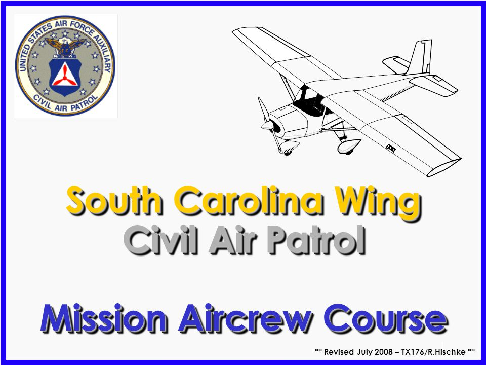 South Carolina Wing Civil Air Patrol Mission Aircrew Course