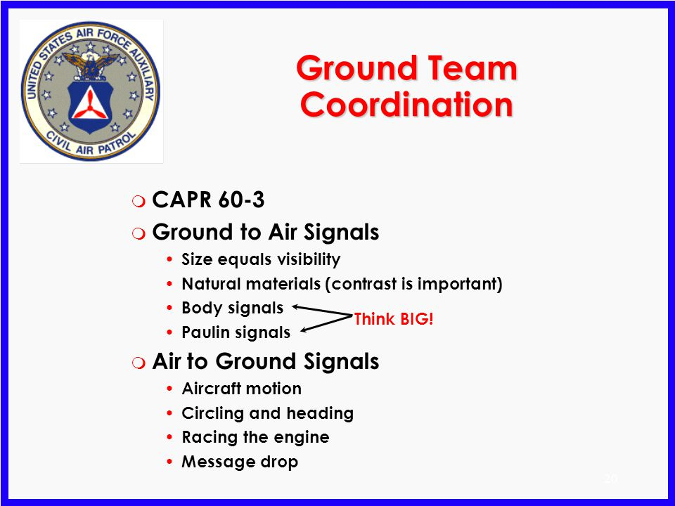 Ground Team Coordination
