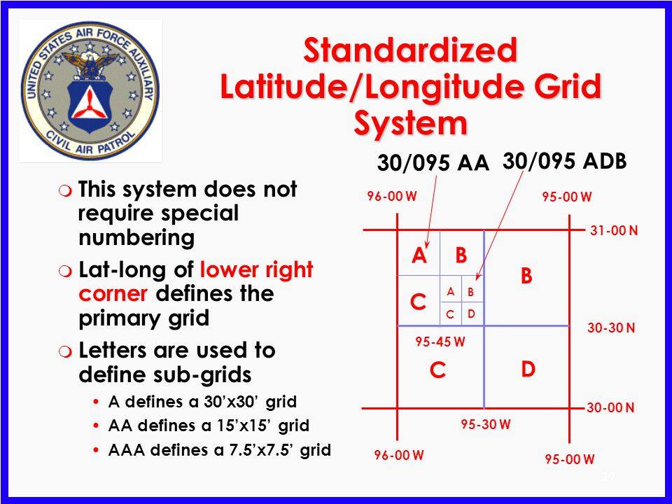 Standardized Latitude/Longitude Grid System