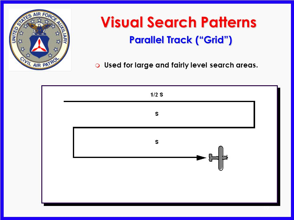 Visual Search Patterns Parallel Track ( Grid )