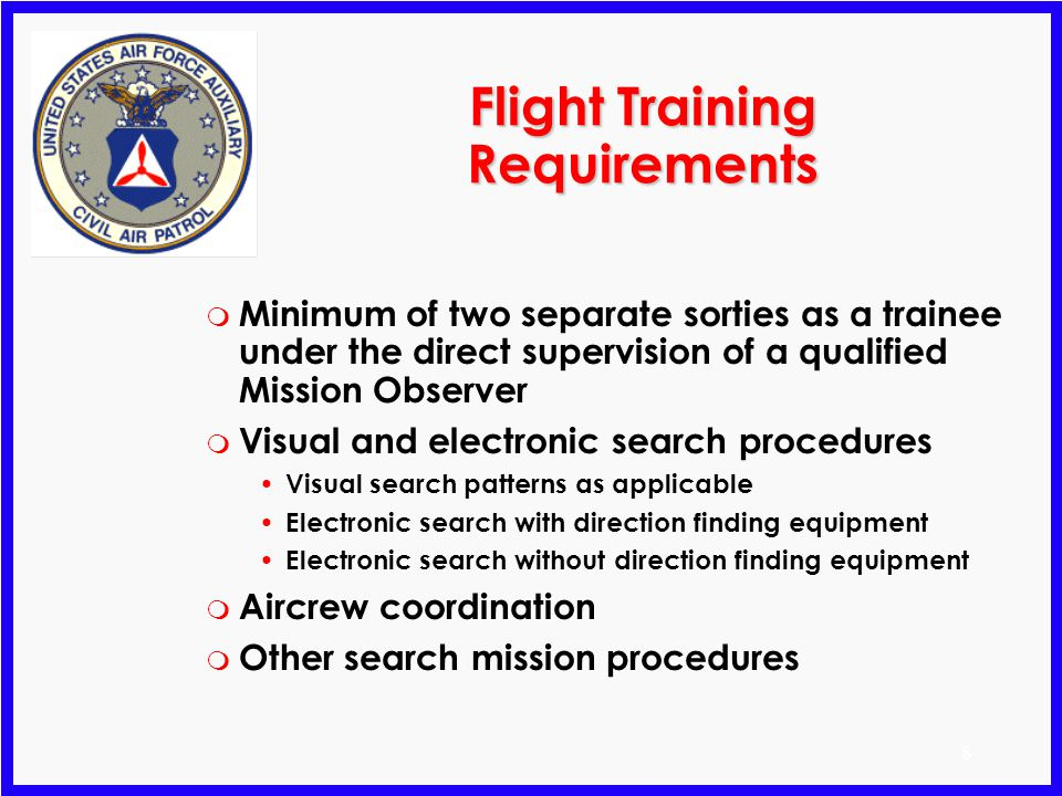 Flight Training Requirements