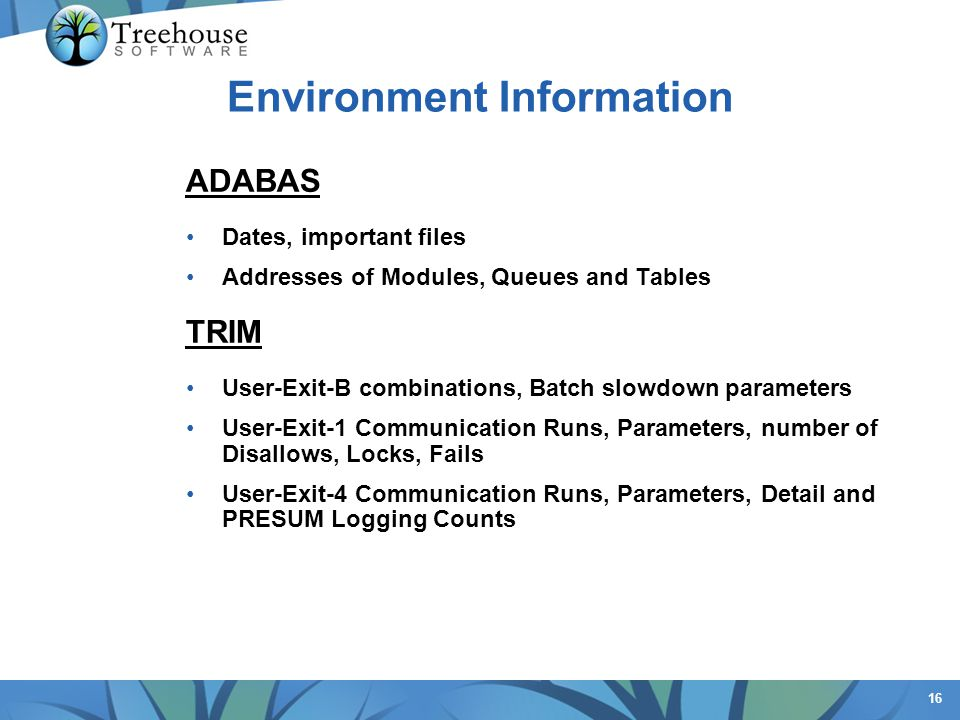 Environment Information