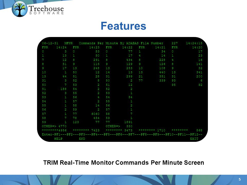 TRIM Real-Time Monitor Commands Per Minute Screen