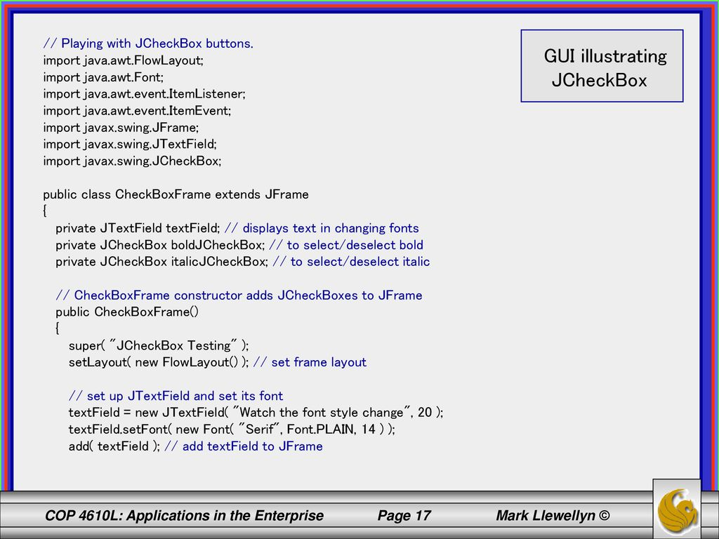 COP 4610L: Applications in the Enterprise Spring ppt download