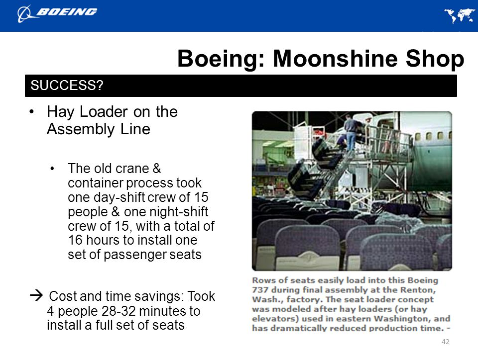 Boeing: Moonshine Shop