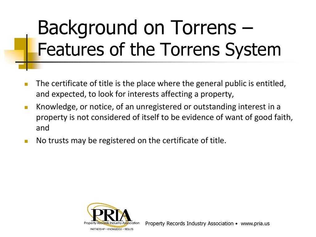 Torrens Land Registration Ppt Download