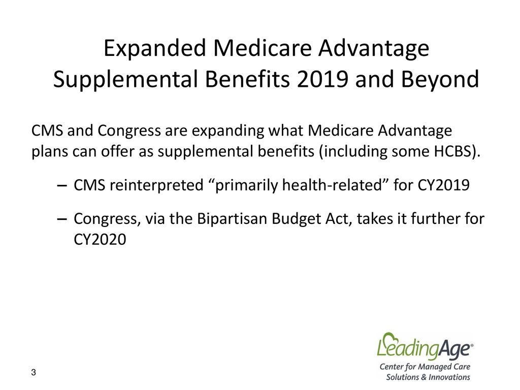 Medicare Advantage & the New Supplemental Benefits - ppt