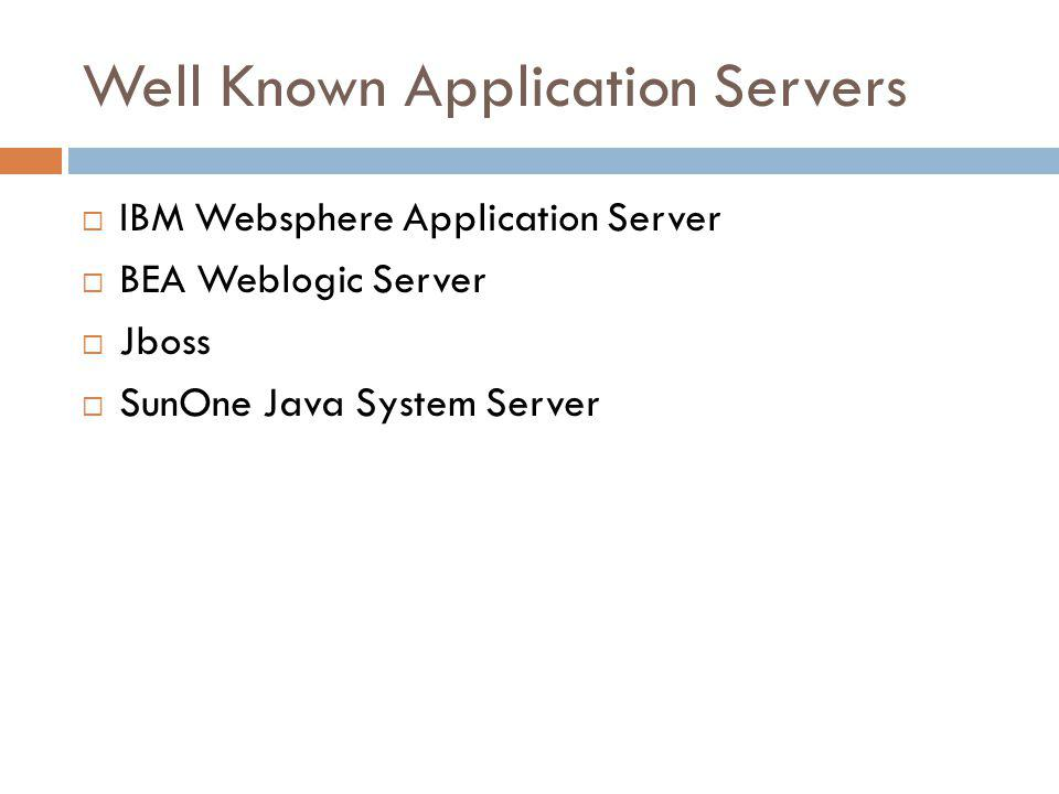 Well Known Application Servers