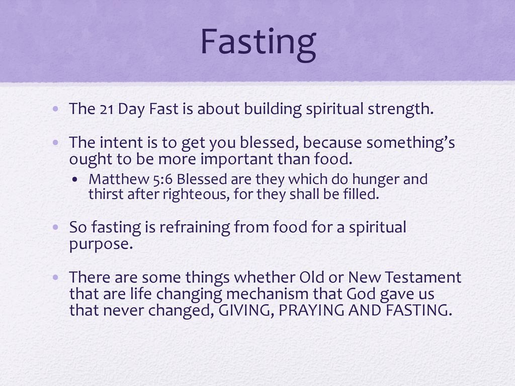 21 DAYS OF POWER THE DANIEL FAST - ppt download