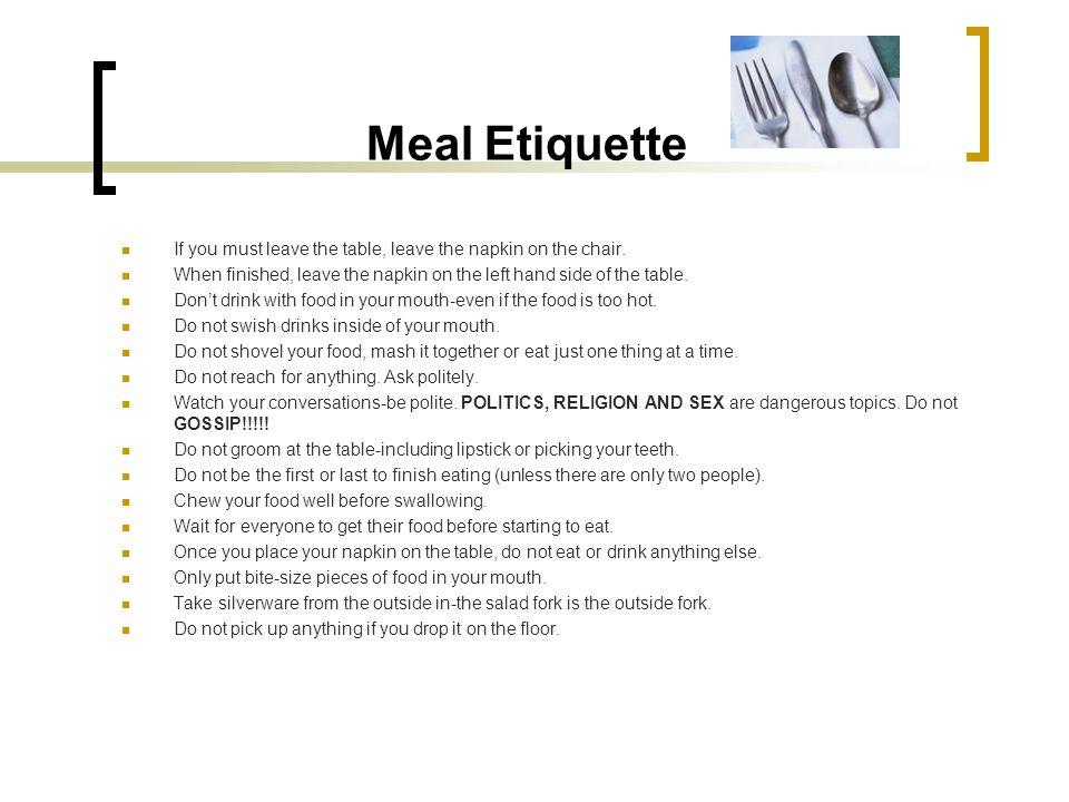 Hotel & Restaurant Training Services Etiquette for ...