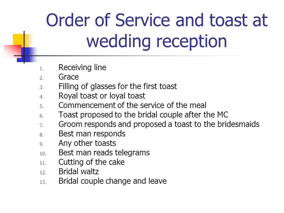 Best Wedding Toasts.Order Of Wedding Toasts Etiquette Unique Wedding Ideas