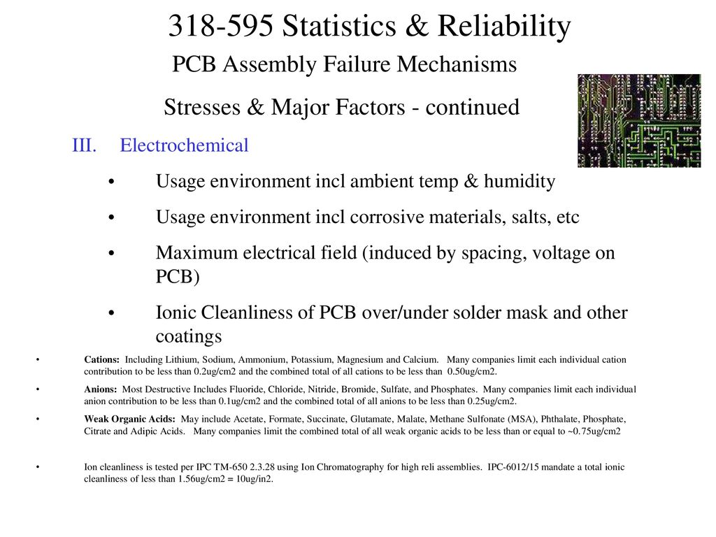 Statistics and Electronic Reliability - ppt download