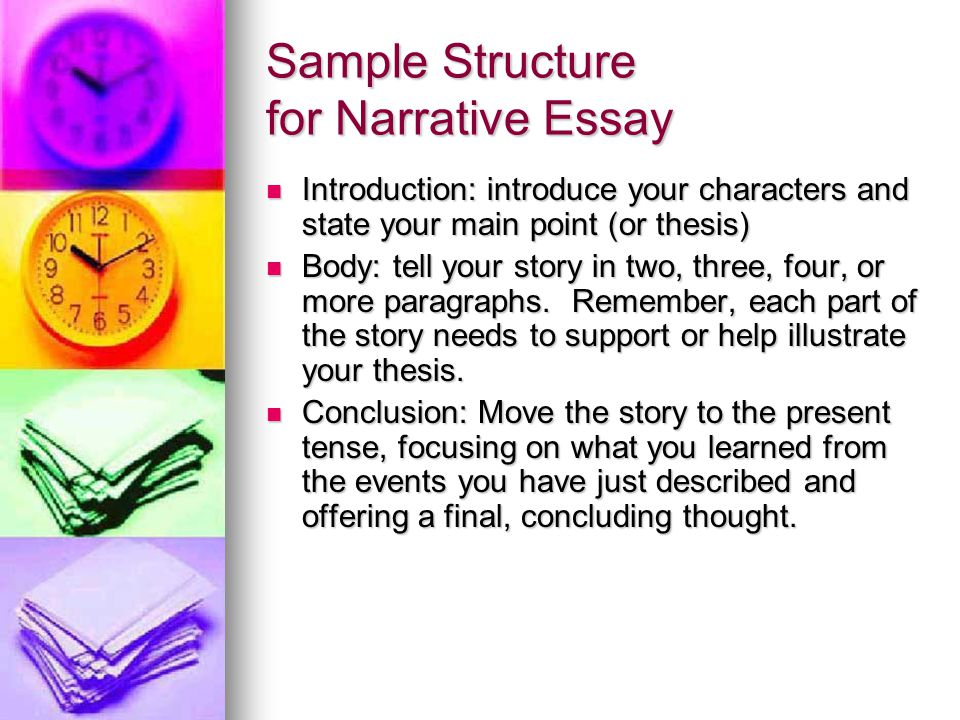 Sample Structure for Narrative Essay
