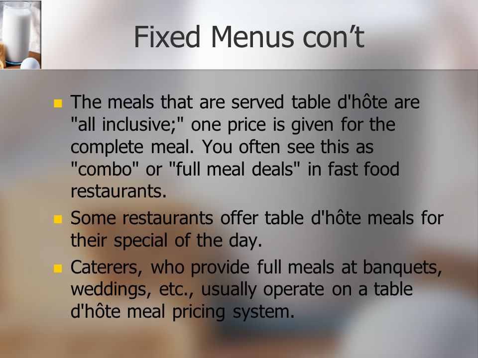 Fixed Menus con't
