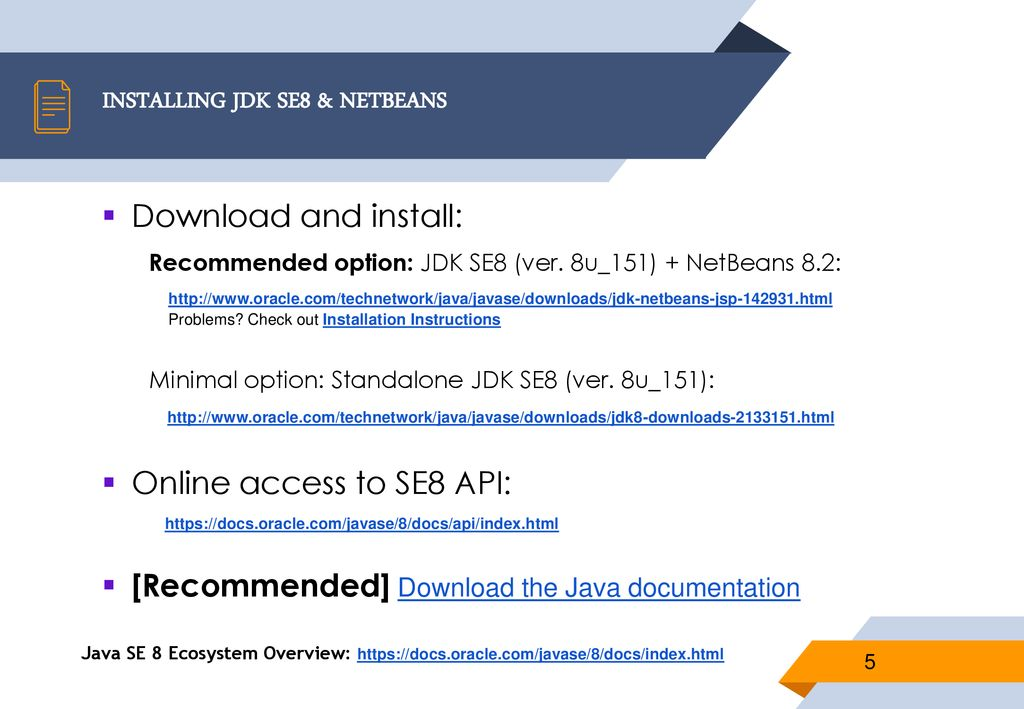 Java SE8 Fundamentals GETTING READY FOR JAVA  - ppt download
