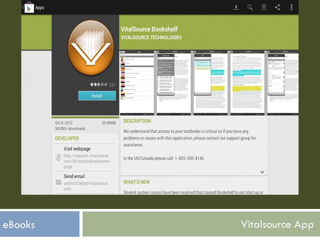 install vitalsource bookshelf downloadable