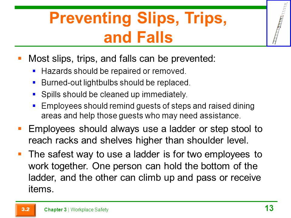 Preventing Slips, Trips, and Falls