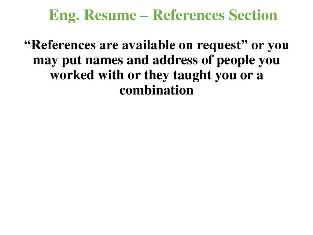 Writing To Get Engineering Job Ppt Download
