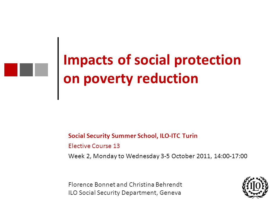 Impacts of social protection on poverty reduction