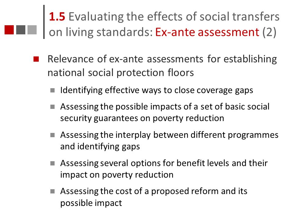 1.5 Evaluating the effects of social transfers on living standards: Ex-ante assessment (2)
