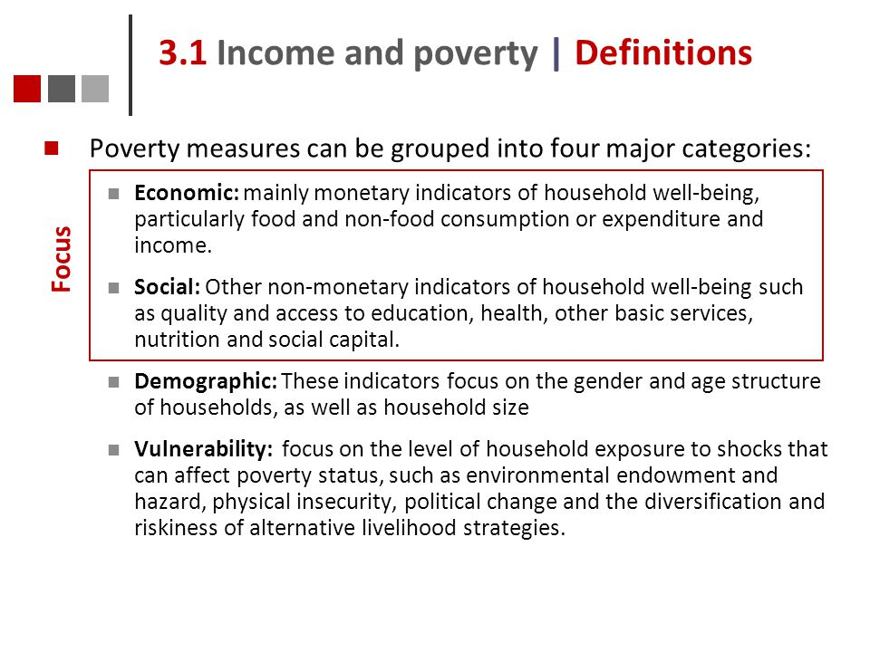 3.1 Income and poverty | Definitions